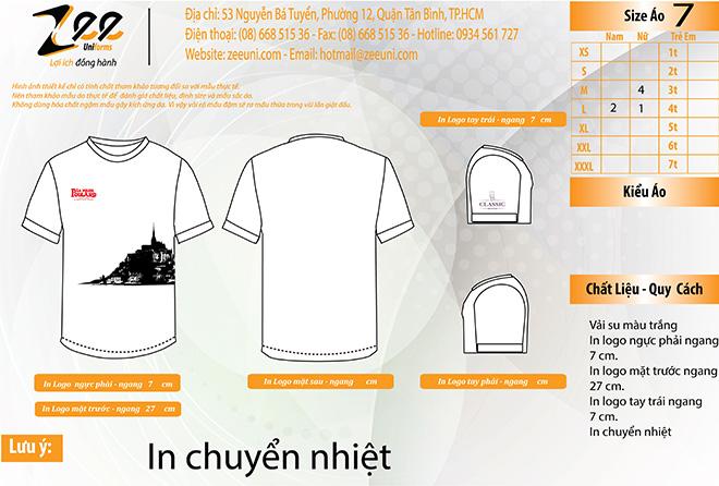 Market thiết kế áo thun đồng phục của Thực Phẩm Cổ Điển