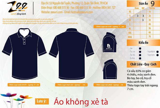 mẫu thiết kế đồng phục áo thun của công ty Am Trust