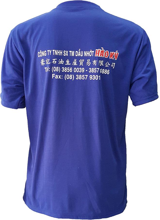Chiếc áo thun quà tặng mà dầu nhớt Hào Ký làm để tặng cho khách hàng - mặt sau