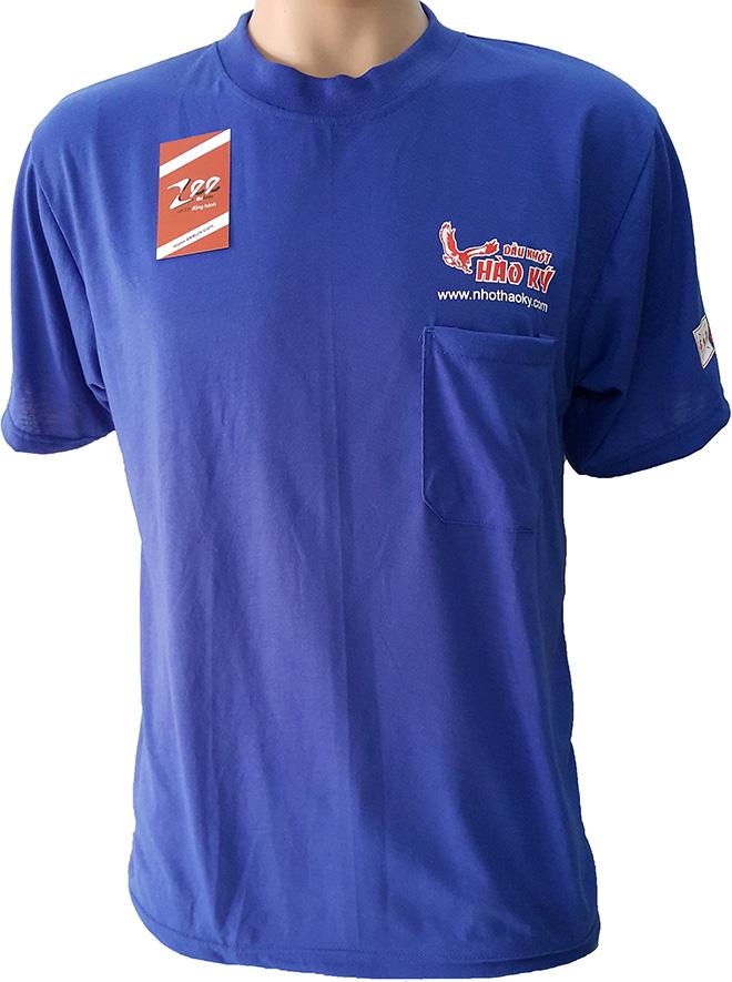 Chiếc áo thun quà tặng mà dầu nhớt Hào Ký làm để tặng cho khách hàng - mặt trước