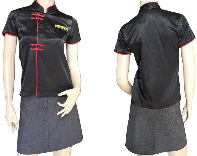 Áo đồng phục bếp dành cho nữ của nhà hàng MONGKOK