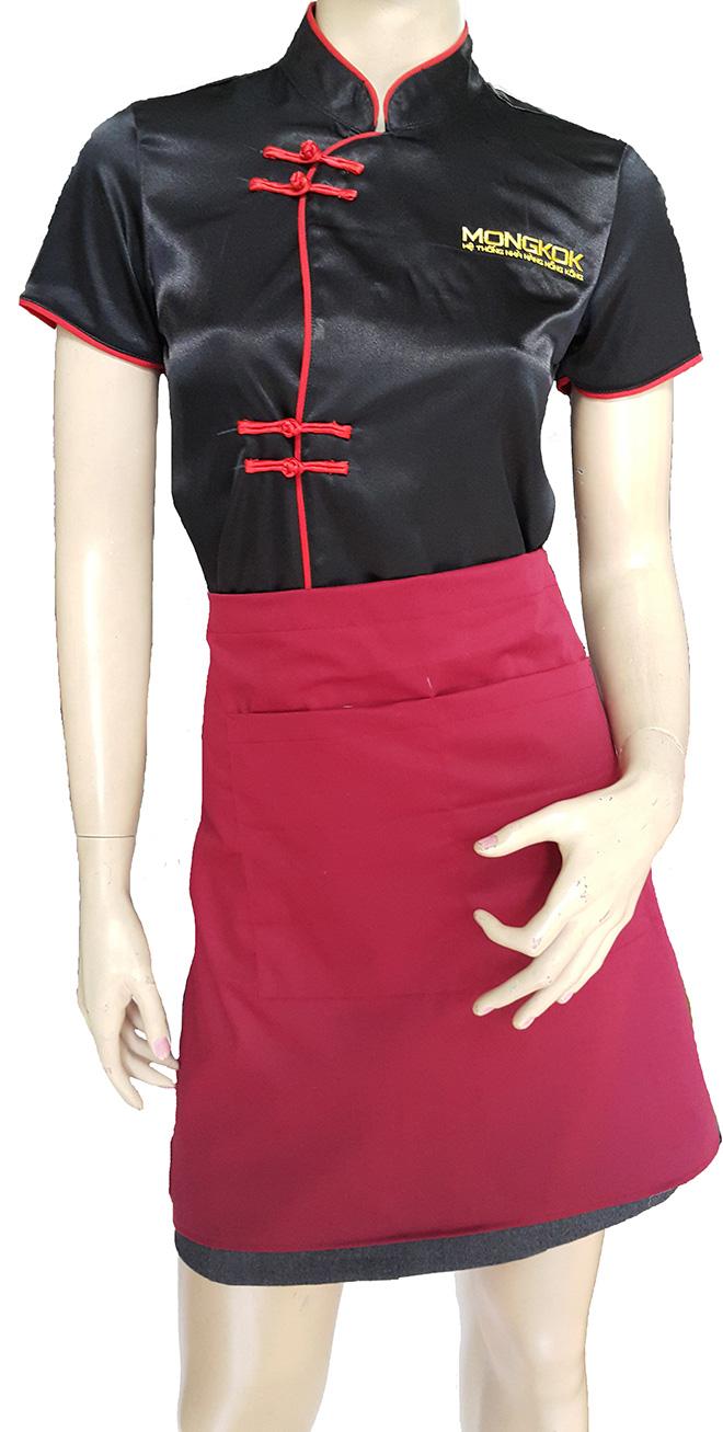 Áo bếp cùng tạp dề đồng phục của nhà hàng MONGKOK.
