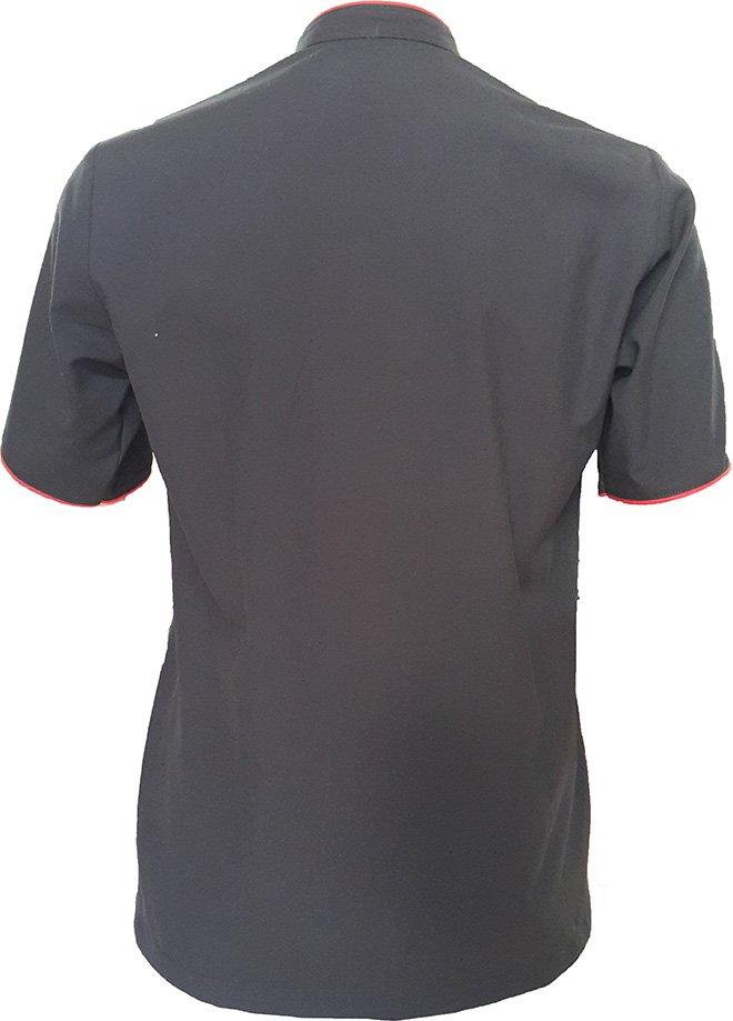 Hình ảnh áo đồng phục bếp nhà hàng MONGKOK ở phía sau.