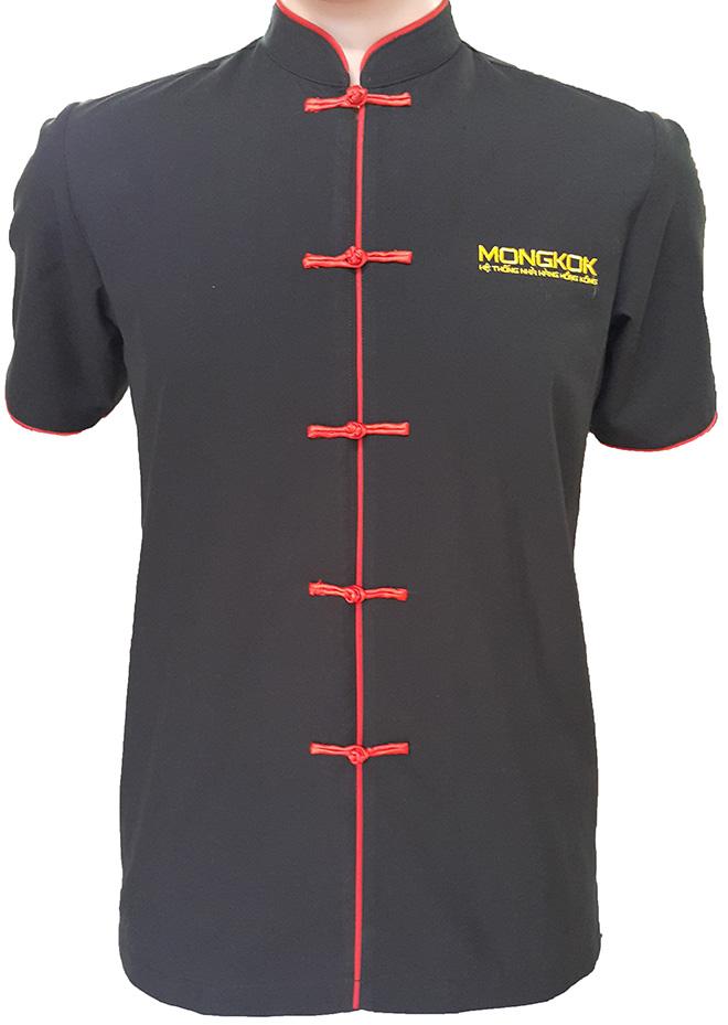 Mẫu áo đồng phục bếp dành cho nam của nhà hàng MONGKOK.