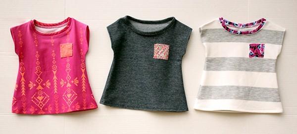 3 mẫu áo thun đẹp cho bé gái trong mùa hè này.