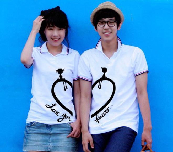 Áo cặp đôi love you forever dễ thương dành cho mọi lứa tuổi