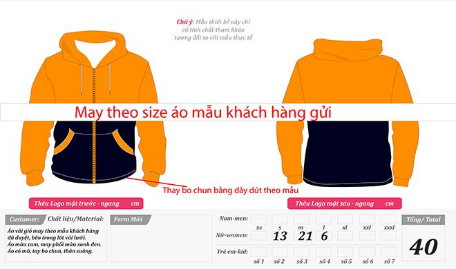 Matket đồng phục áo khoác vải dù của công ty DPFRUITS