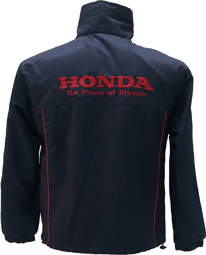 May áo khoác đồng phục của Hon Da - mặt sau