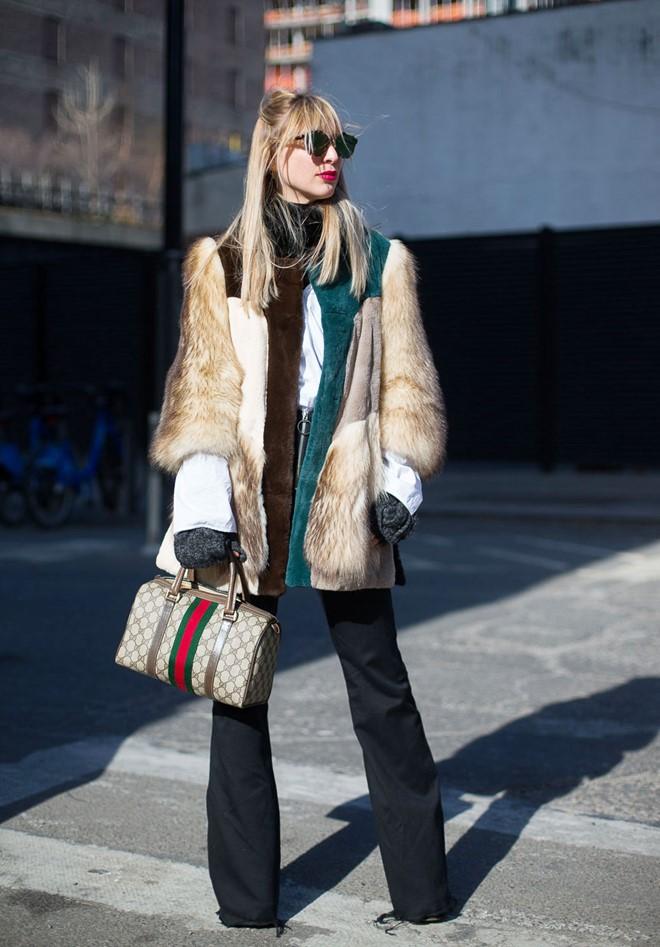 Áo khoác lông phủ sóng trên các đưởng phố New York - Hình 8