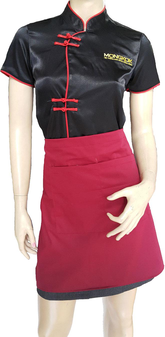 Mẫu đồng phục tạp dề của Mong Kok.