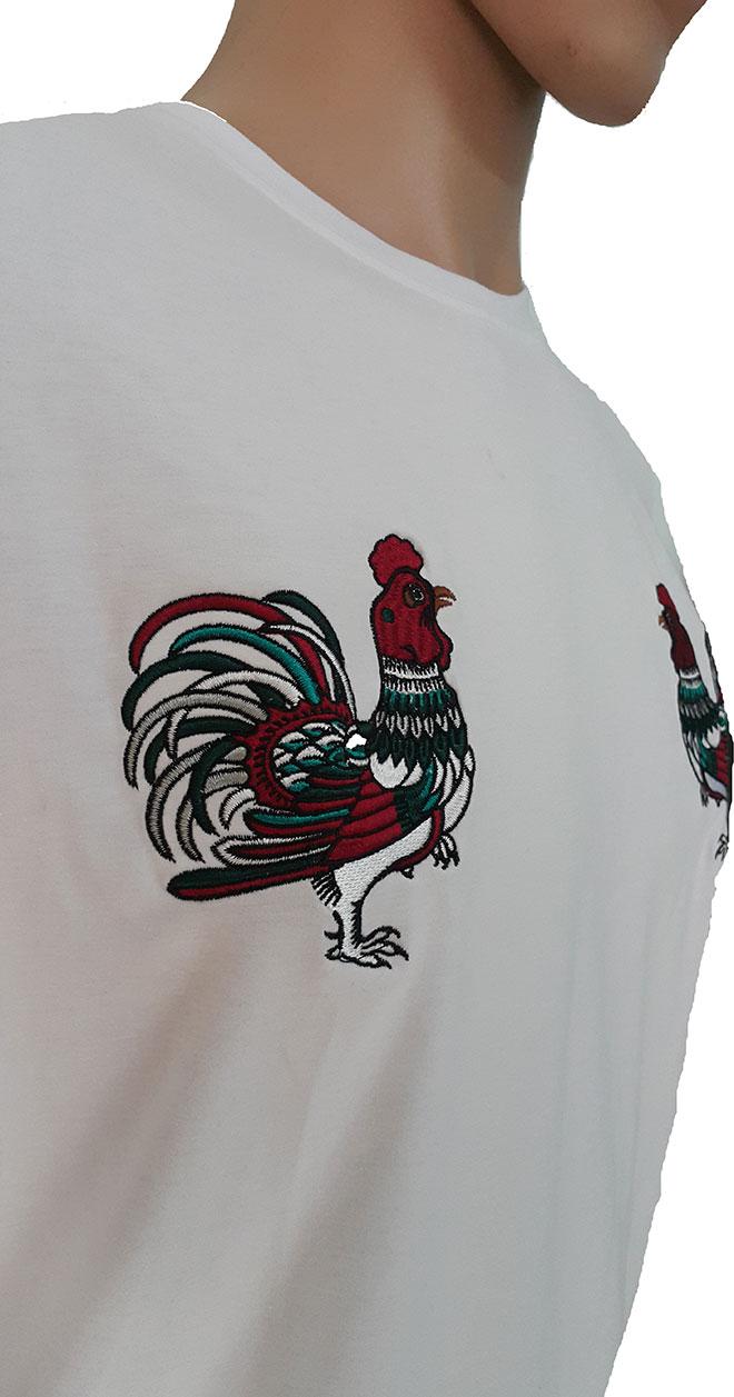 Áo thun nhóm con gà đại cát màu trắng - hình 2