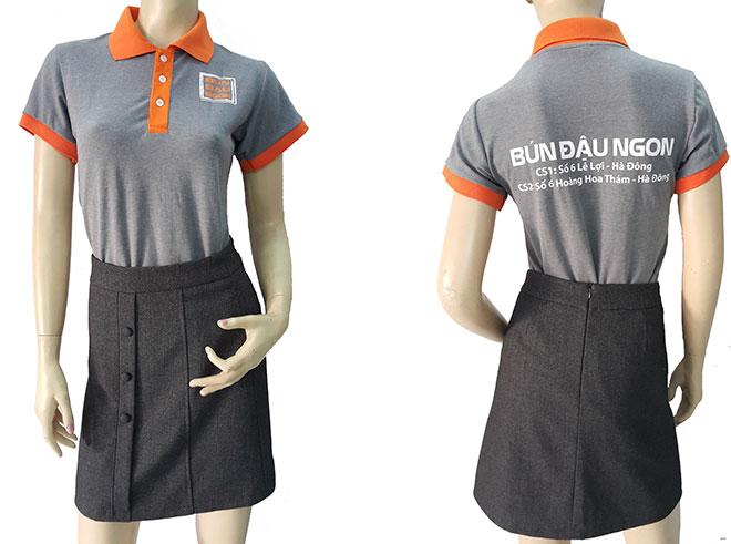 Áo thun đồng phục của quán Bún Đậu Ngon