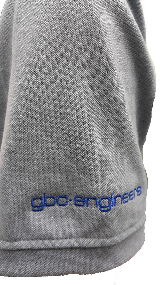 Phần tay áo phải của đồng phục công ty gbo-engineers
