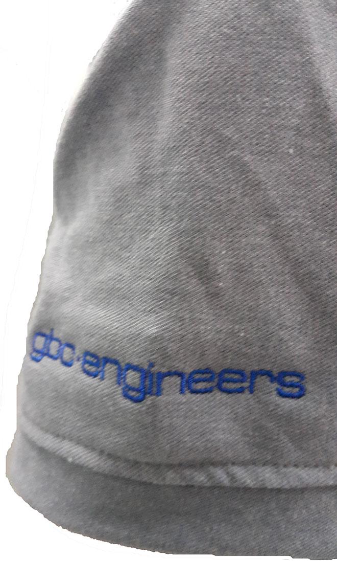 Phần tay áo trái của đồng phục công ty gbo-engineers