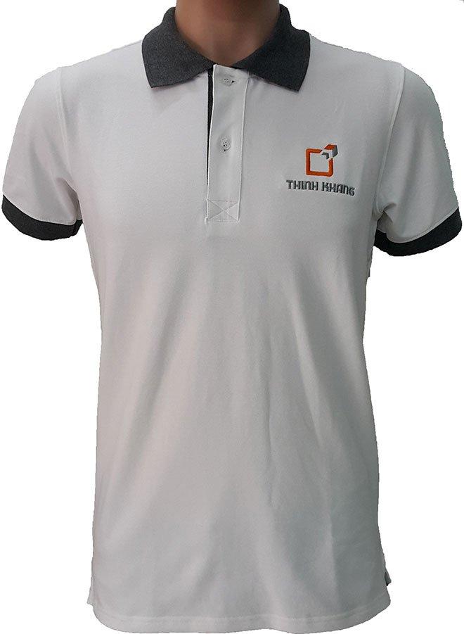 Mẫu áo thun đồng phục công ty Thịnh Khang mặt trước.