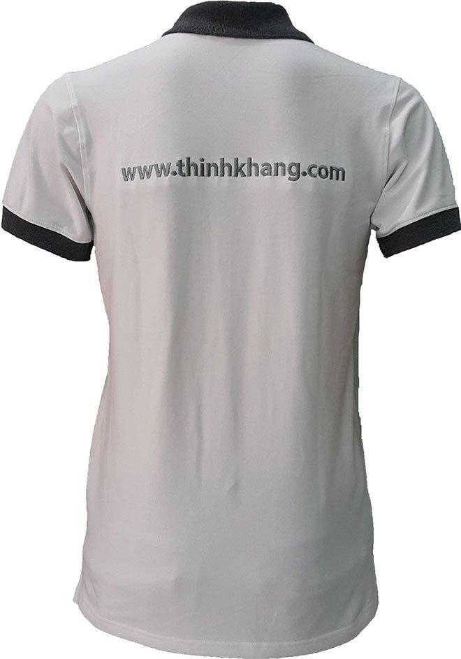 Hình ảnh phía sau lưng của áo thun đồng phục Thịnh Khang.