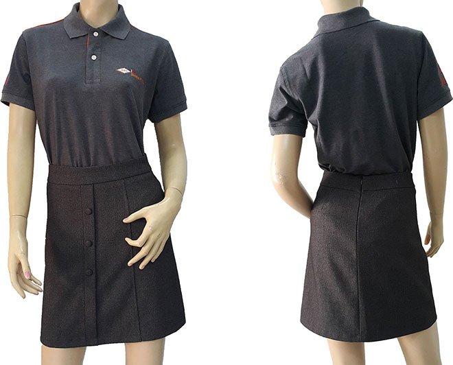 Áo thun đồng phục xám lông chuột của Đại Hàn Vina