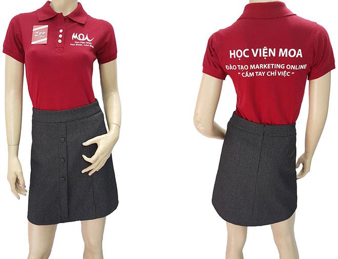 Áo thun đồng phục của học viện MOA