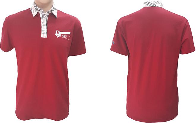 Đồng phục áo thun của OMG Nails Spa – màu đỏ đô