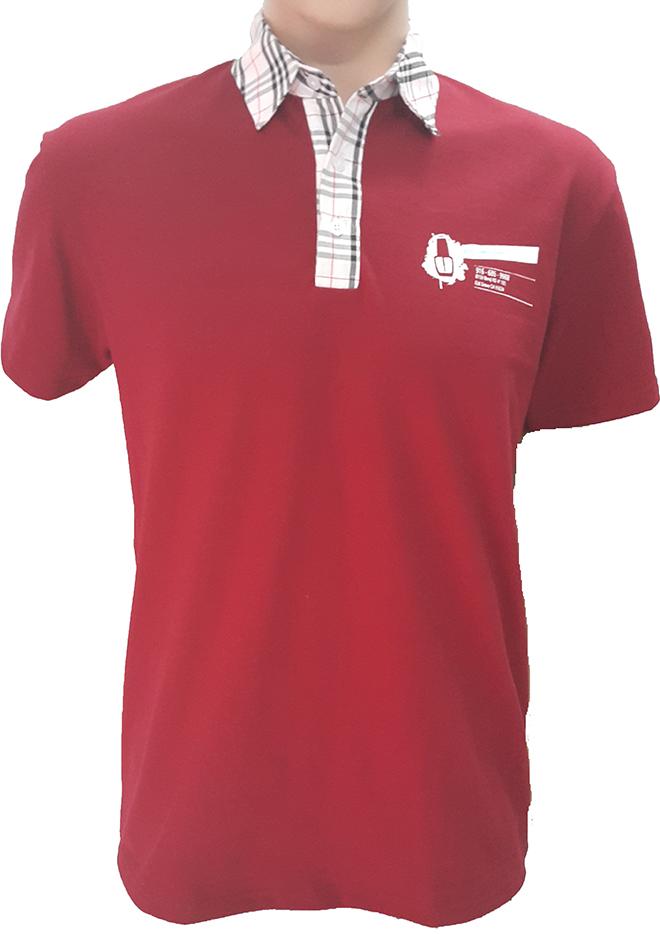 Đồng phục áo thun của OMG Nails Spa - màu đỏ đô - zeeuni.com - hình 1