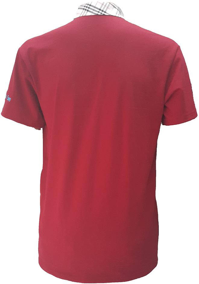 Đồng phục áo thun của OMG Nails Spa - màu đỏ đô - zeeuni.com - hình 4