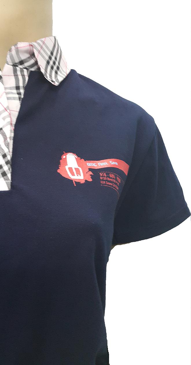Đồng phục áo thun của OMG Nails Spa – màu xanh bích - hình 2 - zeeuni.com