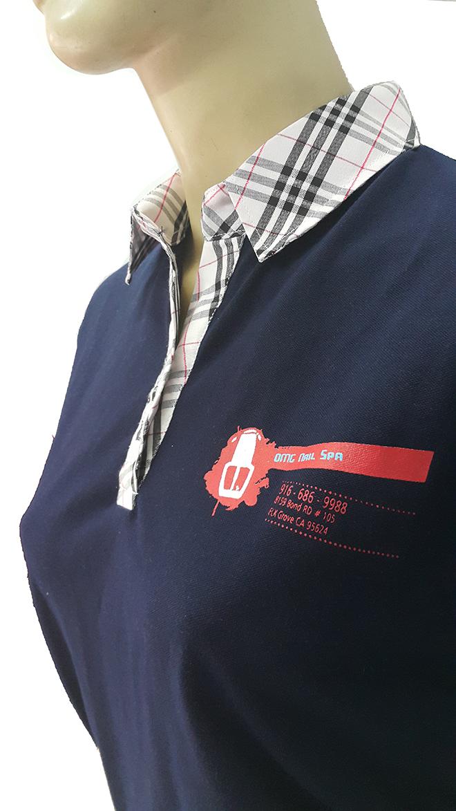 Đồng phục áo thun của OMG Nails Spa – màu xanh bích - hình 3 - zeeuni.com