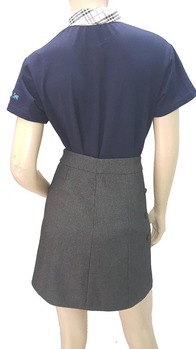 Đồng phục áo thun của OMG Nails Spa – màu xanh bích - hình 4 - zeeuni.com