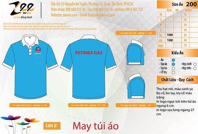 Market áo thun đồng phục công ty dầu khí PETIMEX