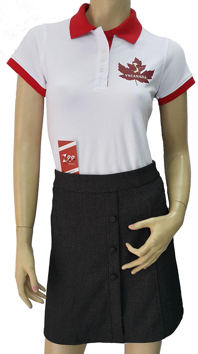 Mặt trước của áo thun đồng phục của VNCANADA.