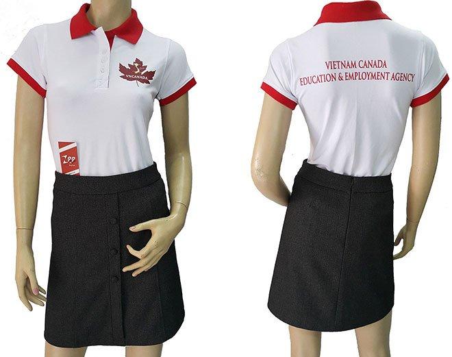 Áo thun đồng phục của công ty tư vấn du học VNCANADA