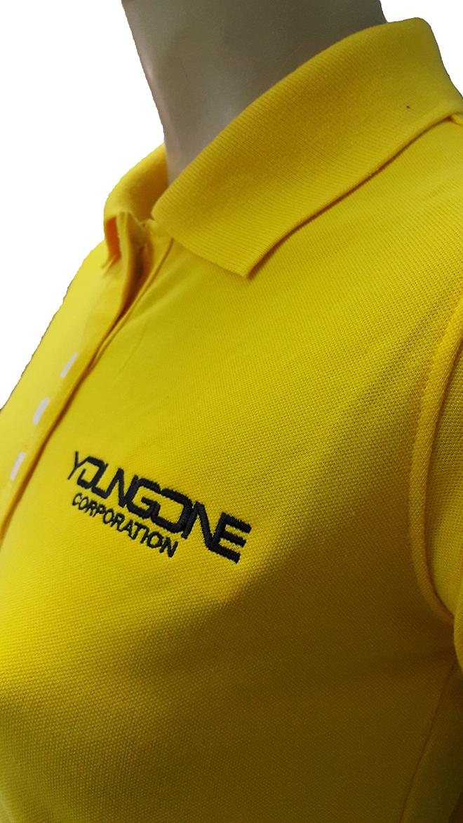 Áo thun đồng phục công ty thời trang YOUNGONE đã may thành phẩm - hình 3 - zeeuni.com