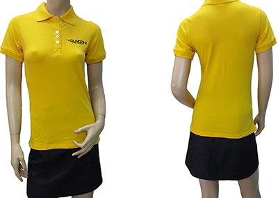 Đồng phục áo thun của công ty Young One đã may thành phẩm