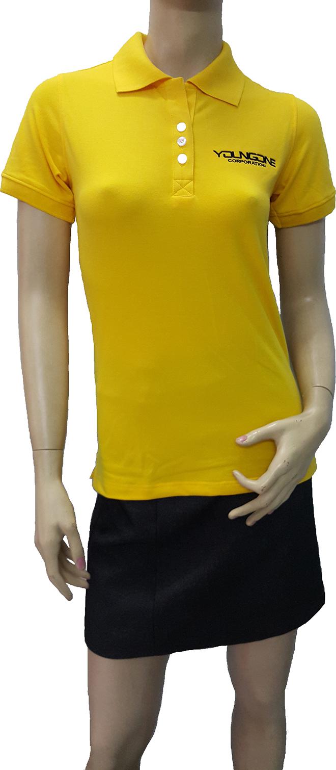 Áo thun đồng phục công ty thời trang YOUNGONE đã may thành phẩm - hình 1 - zeeuni.com