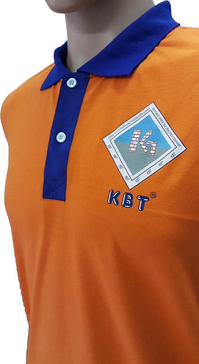 Áo thun đồng phục công nhân Gạch Ngói Kiên Giang in logo ở ngực trái - hình 1