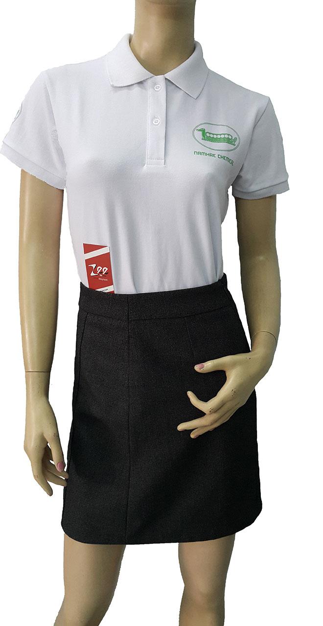 Áo thun đồng phục của công ty Name Hae Chemical với chất liệu vải thun cao cấp.