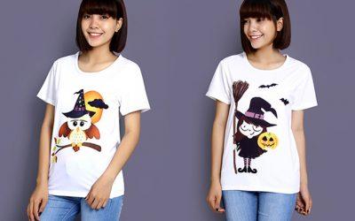 May áo cặp Halloween phong cách dễ thương