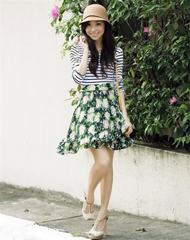 Cách phối áo thun sọc kẻ chuẩn cho xuân này thêm sành điệu - hình 12 - zeeuni.com