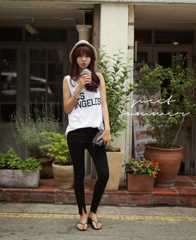 Công thức mặc áo thun tank-top đẹp theo dáng người cho các bạn nữ - hình 2 - zeeuni.com