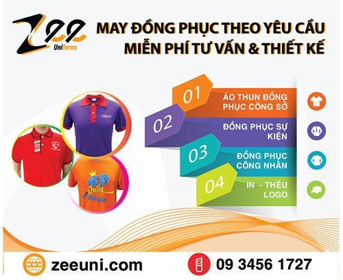 Công ty may mặc Zeeuni chuyên thiết kế & may áo đồng phục cho công ty