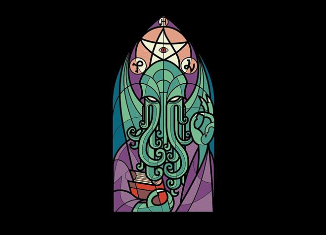 10 mẫu thiết kế áo thun đẹp nhất của Threadless - Cthulhus Church - Hình 1
