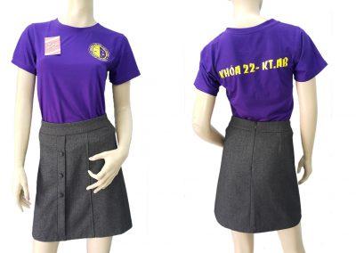 Đồng phục áo nhóm cựu sinh viên - màu tím - zeeuni.com