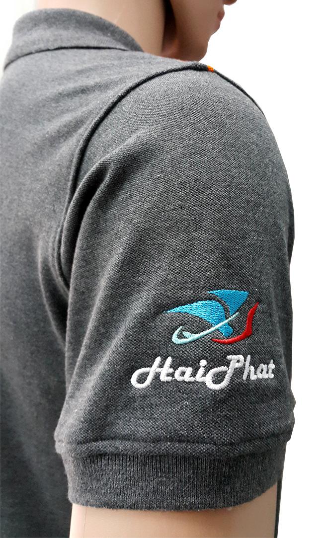 Đồng phục áo thun công nhân Hải Phát -hình 4- zeeuni.com
