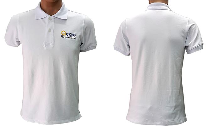 Đồng phục áo thun cá sấu của công ty ACARE đã may thành phẩm