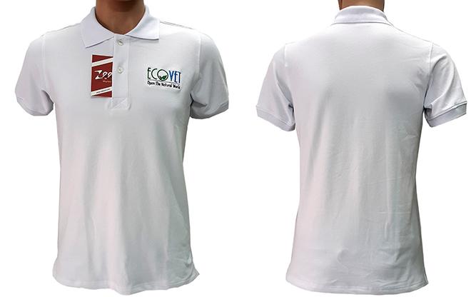 Đồng phục áo thun công ty Evovet đã may thành phẩm