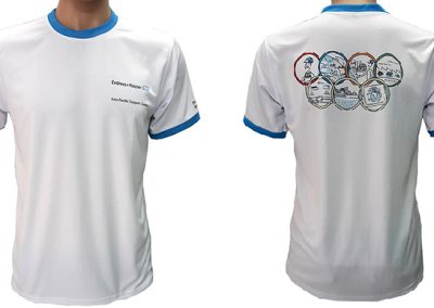 may áo thun đồng phục số lượng ít của công ty Endress đã may thành phẩm