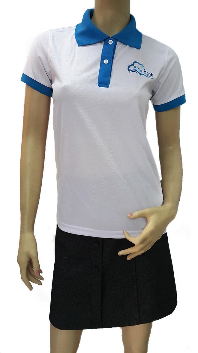 Đồng phục áo thun dịch vụ giặt ủi Biển Xanh - hình 1 - zeeuni.com