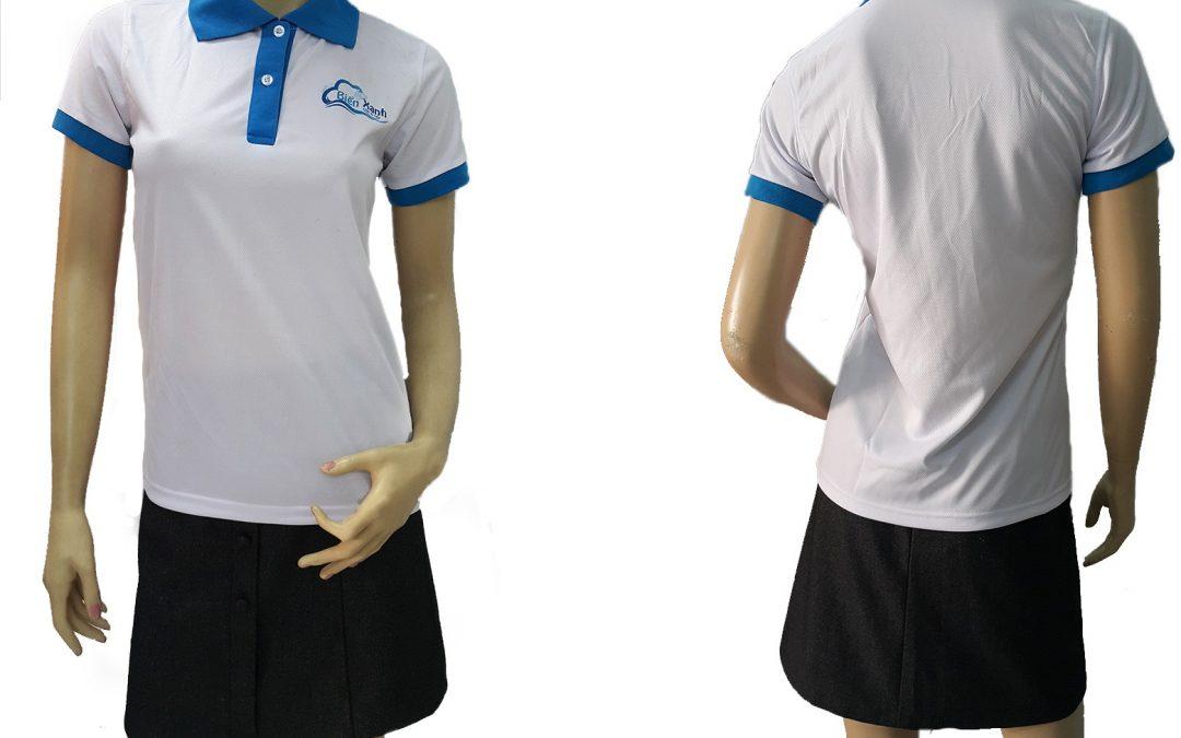Đồng phục áo thun dịch vụ giặt ủi Biển Xanh