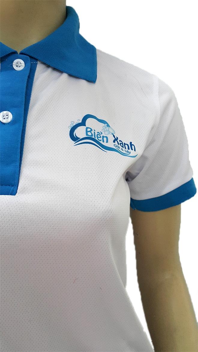 Đồng phục áo thun dịch vụ giặt ủi Biển Xanh - hình 2 - zeeuni.com