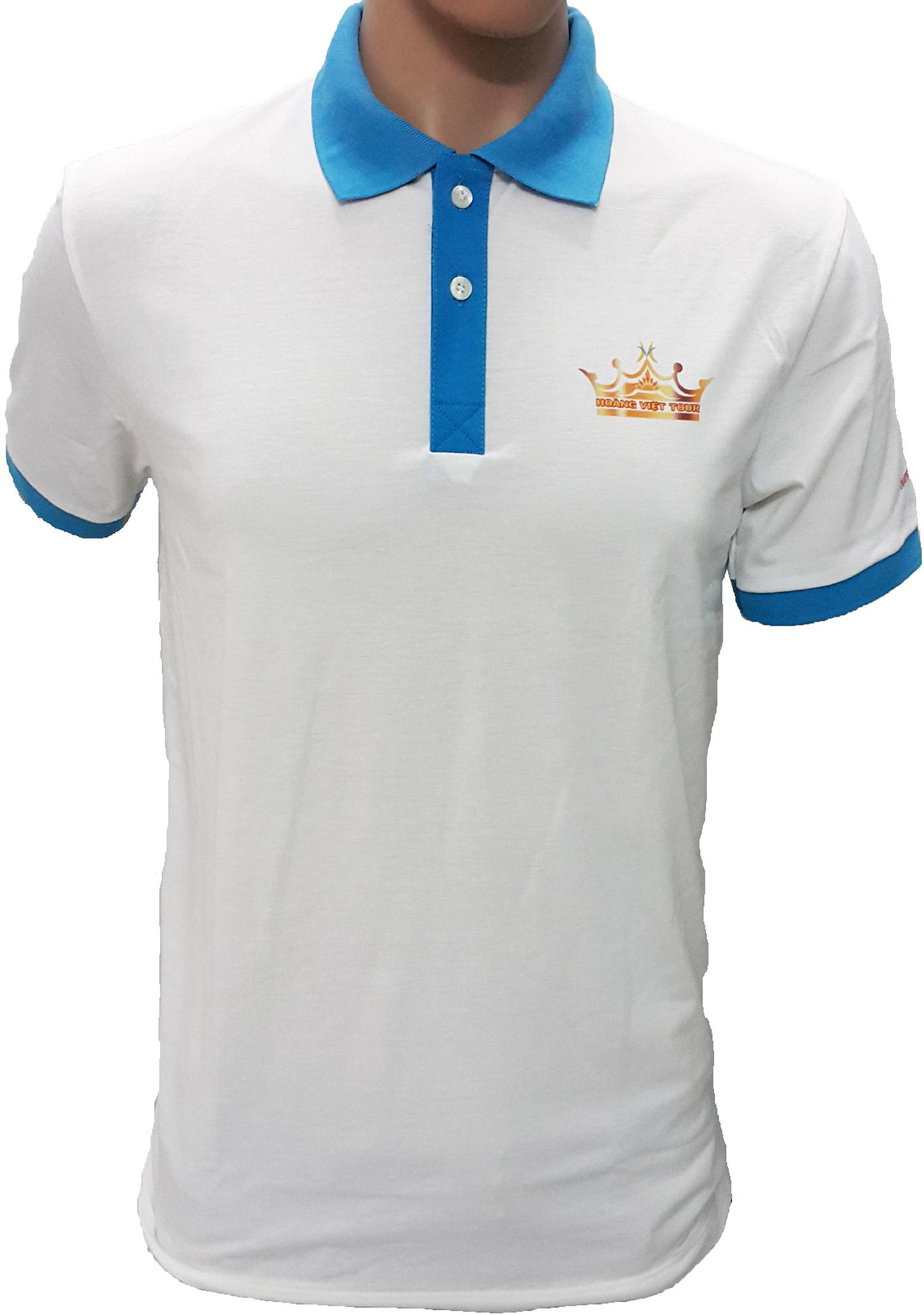Mẫu áo thun đồng phục của Hoàng Việt Tour - mặt trước